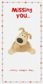 Boofle Missing You Greeting Card